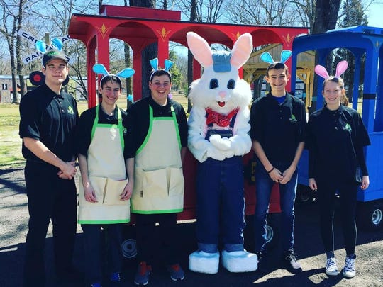 Easter EGGspress, features an outdoor, Easter-themed train ride, meet and greet with the Easter Bunny, an egg hunt, inflatable slide, free bowling game and shoe rental, 1 to 7 p.m. March 17, 18, 24, 25, 29, 30, 31, tickets $9.95. (609) 561-3040. www.didonatofuncenter.com. www.facebook.com/didonatofuncenter. DiDonato Family Fun Center, 1151 S. White Horse Pike, Hammonton.