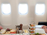 Airlines with destination-themed menus