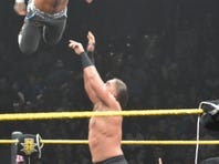 NXT champion Kevin Owens takes the fight to fellow grappler Sami Zayn.