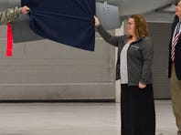 An aircraft dedication ceremony was held at Gowen Field Friday.