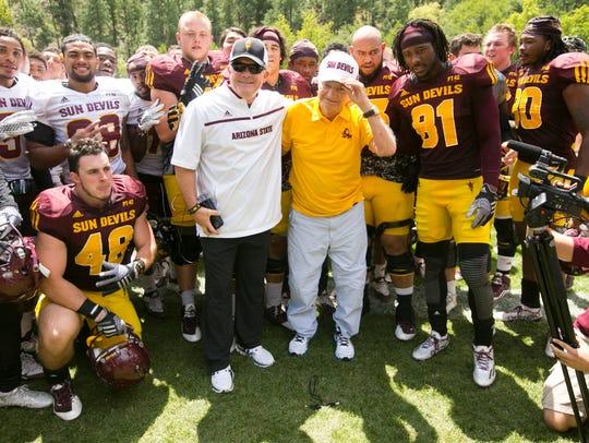 ASU head football coach Todd Graham poses for a photo
