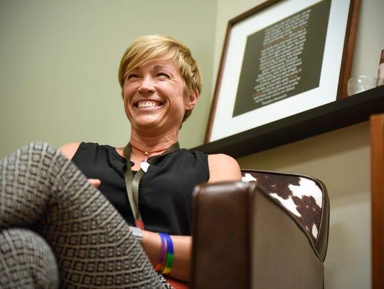 Advanced practice nurse Joni Steffens smiles while