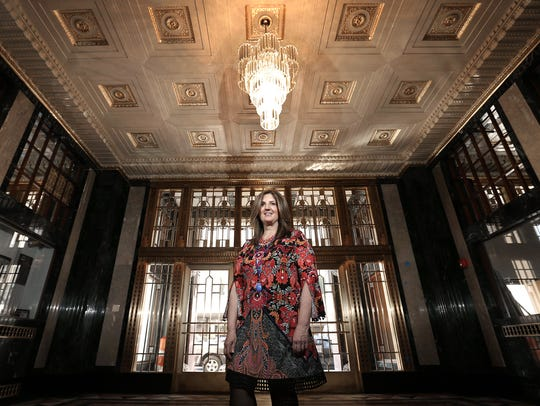 Aloft Hotel general manager Heidi Poole stands Wednesday