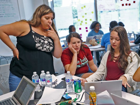 Brave Initiatives Camp at KSM Consulting for high school girls focuses on coding, design, and leadership