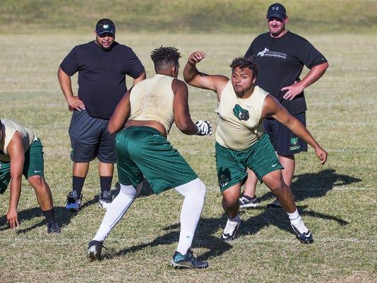 Basha High School Football Spring Workouts
