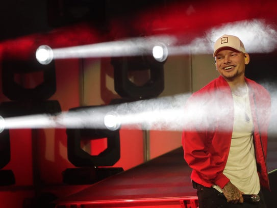 Kane Brown performs at the Resch Center on Thursday.