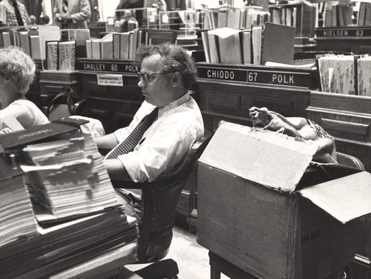 In this file photo from 1977, Art Small of Iowa City