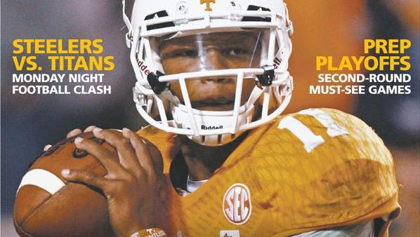 Football Y'All cover for Friday features Vols QB Josh Dobbs
