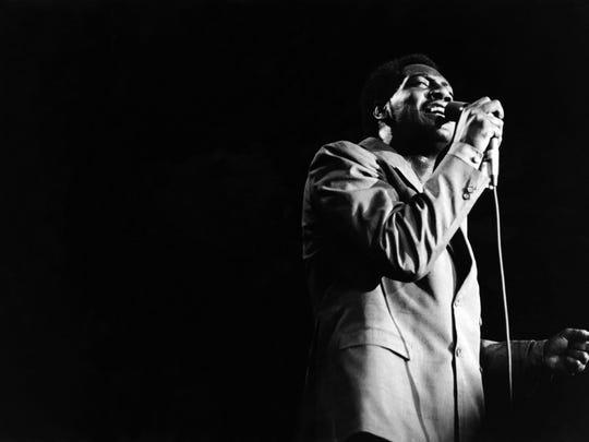 Soul singer Otis Redding performs at the 1967 Monterey Pop Festival in California in June 1967.