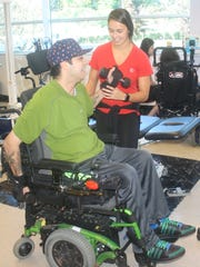 Recovery Project therapist Caileigh Deacon works with