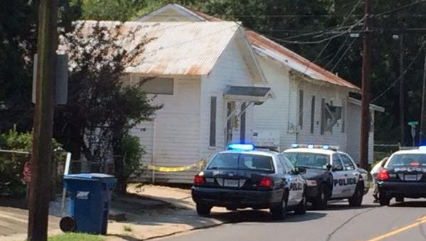Police on the scene of the murder of Deontra Alexander.