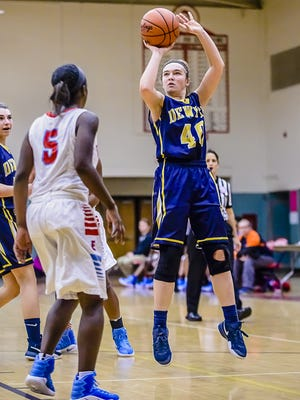 Madison Petersen, right, and DeWitt are ranked No. 8 in Class A in this week's Associated Press poll.