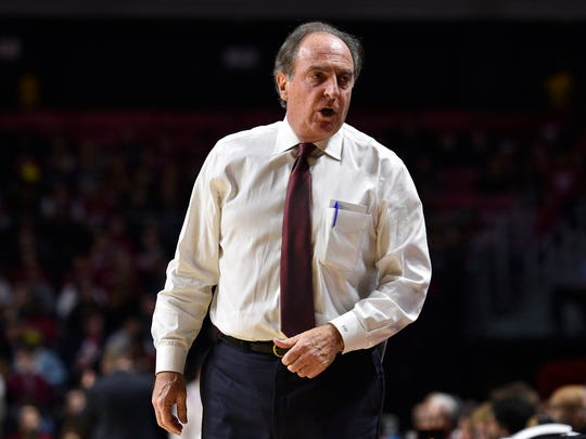 Temple coach Fran Dunphy talks to this team on the