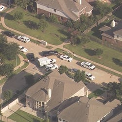 The scene of the shooting near the Houston suburb of Fulshear, Texas.