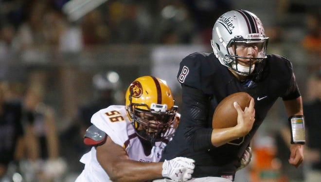 All it took was a dominating 30-10 victory over Phoenix Mountain Pointe for Chandler Hamilton to move from No. 4 to the top spot in azcentral sports' Super 10 football rankings.