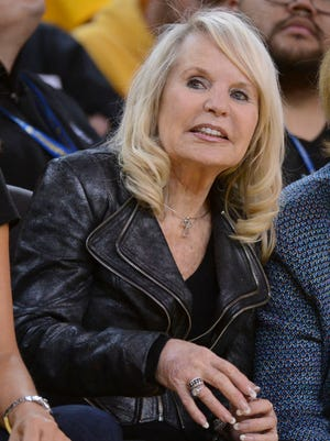 Shelly Sterling sat courtside for one Clippers-Warriors game.