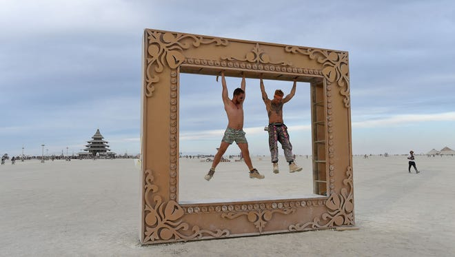 Images from Burning Man on Thursday Sept. 2, 2106.