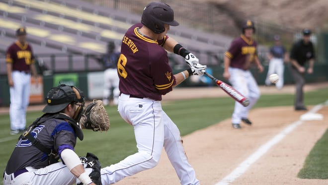 ASU catcher Brian Serven, who had six RBI Sunday, is expected back from a back injury that kept him out Tuesday at Arizona.