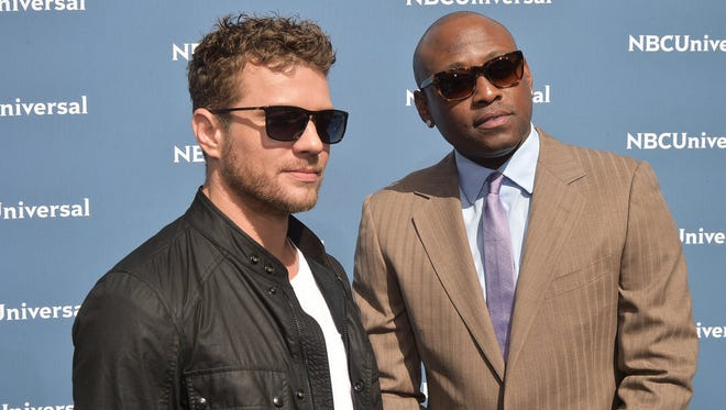 "Ryan Phillippe (left) and Omar Epps co-star in USA's ""Shooter."""