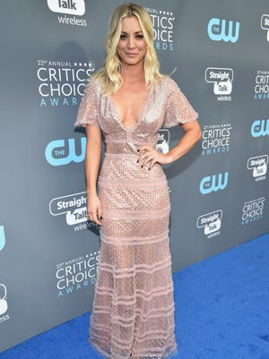 SANTA MONICA, CA - JANUARY 11:  Actor Kaley Cuoco attends The 23rd Annual Critics' Choice Awards at Barker Hangar on January 11, 2018 in Santa Monica, California.  (Photo by Kevin Mazur/WireImage) ORG XMIT: 775101009 ORIG FILE ID: 903975430