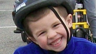 Antonio Buitrago, pictured at age 4, was hurt in a crash last year in Southeast. Now 5, he continues to recover from his injuries.