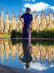 David Yon during his recent Backroads cycling trip to Myanmar.