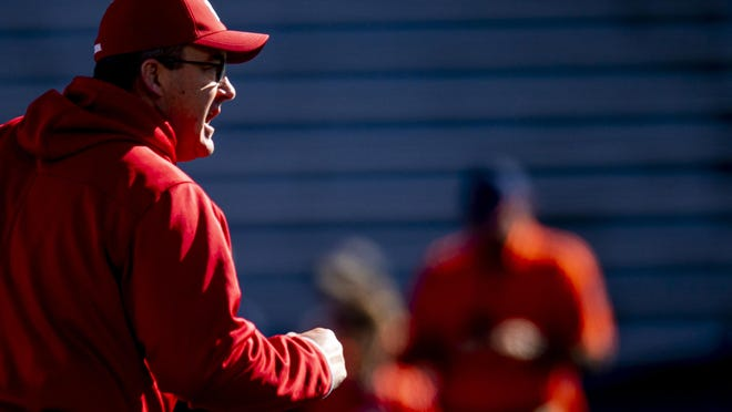"""Wisconsin head coach Paul Chryst said he was encouraged to see his players take social and political stands this summer. """"I think that's part of college, right? You come to college, and there's a lot of things going on, a lot of really good things going on,"""" he said."""