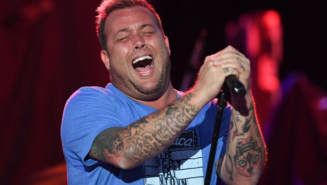 Show opener Uncle Kracker performs on Sunday, Aug. 20, 2017, at the Iowa State Fair Grandstand.