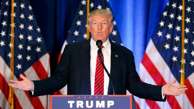 Donald Trump outlined his foreign policy objectives in a speech Monday at Youngstown State University in Ohio.