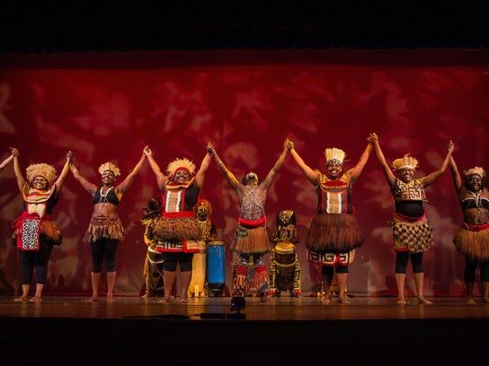 African Dance taking bow art