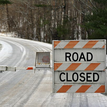 Great Smokies, Parkway closed, including Asheville commuter zone