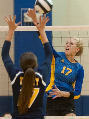 Former CAI volleyball star Alli Stumler is now playing at the University of Kentucky.