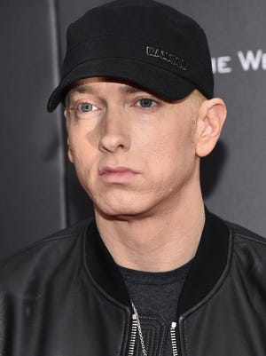 "Eminem attends the New York premiere of ""Southpaw"" for THE WRAP at AMC Loews Lincoln Square on July 20, 2015 in New York City."