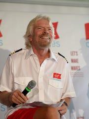 A photo of English entrepreneur Richard Branson, of