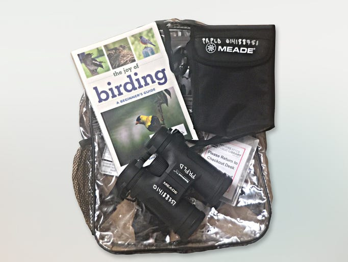 Birding adventure packs are available through the library