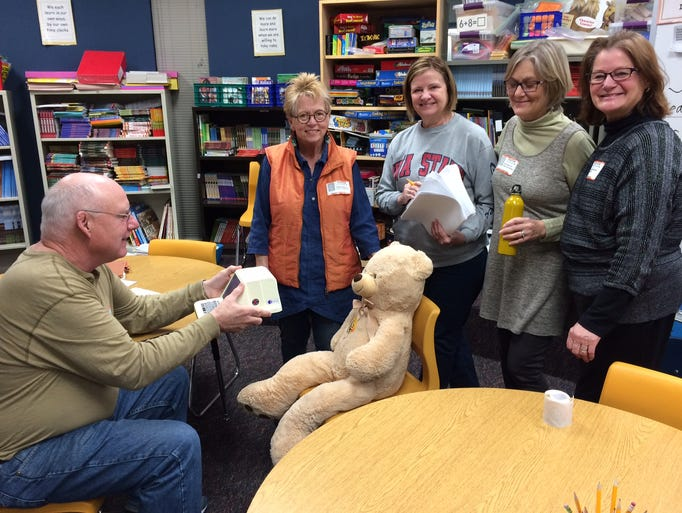 Johnston Lions Club members take a fun break between