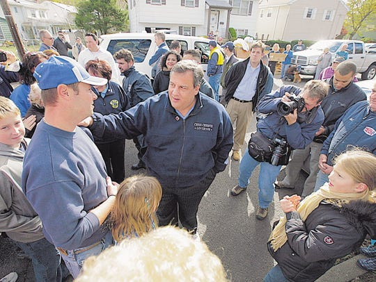 New Jersey Gov. Chris Christie toured a section of