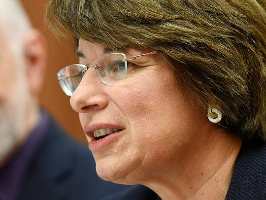 Sen. Amy Klobuchar wouldn't be interviewed for this story, responding instead to emailed questions with written statements.