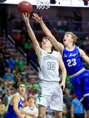 Grant DeMeulenaere of Grand View Christian drives to