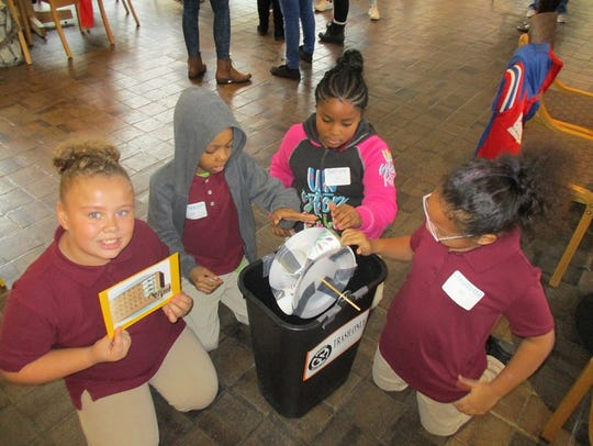Third graders from Paterson's School 12 demonstrate