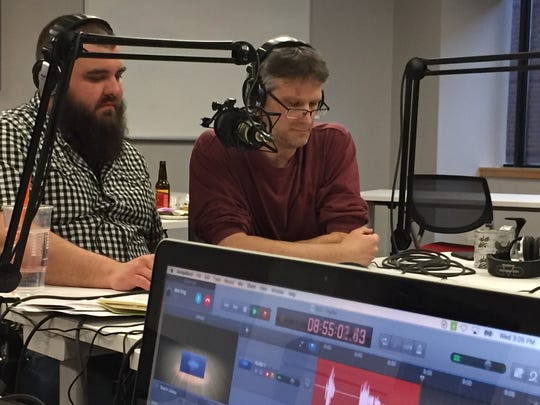 Host Jeff Baker and guest-host Brent Hallenbeck speak