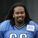 Detroit Lions offensive tackle LaAdrian Waddle in July.