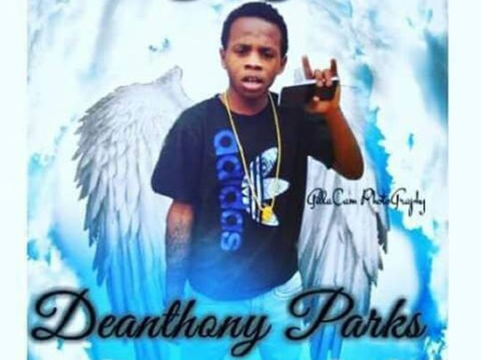 This portrait commemorates Deanthony Parks, who died in a January car crash.