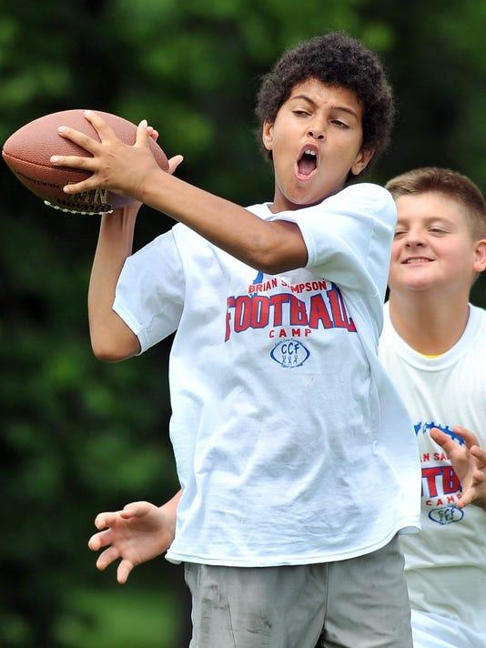 brian sampson memorial football camp cordle cares
