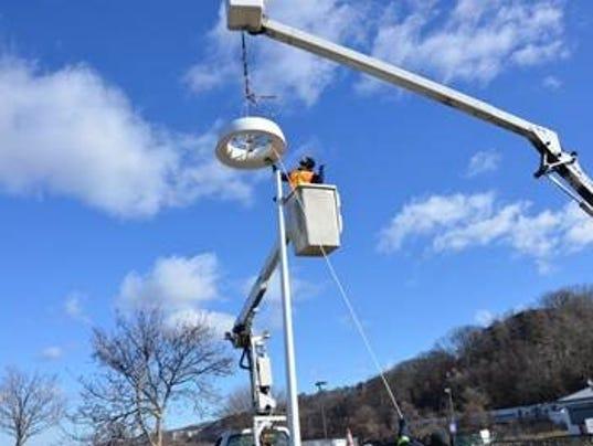 wind-powered streetlight