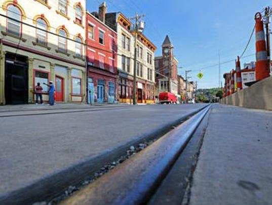streetcar rail