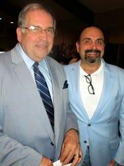 Randy Tiller and Chef John Cariere at Catholic Charities