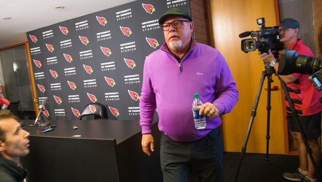 Bruce Arians left the press conference in which he announced his retirement without taking questions from the media.