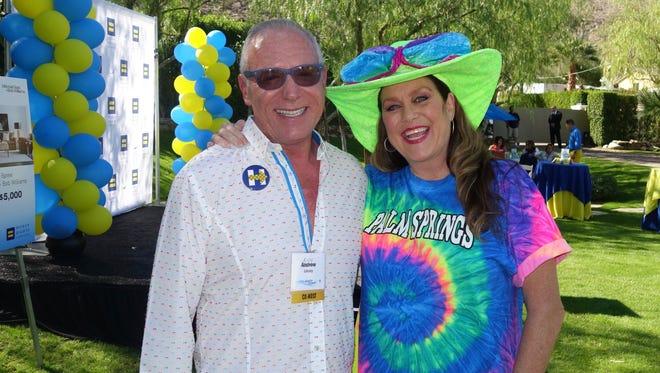HRC Foundation Board member Andy Linsky, entertainer Dana Adkins.