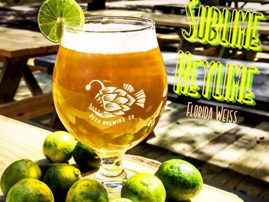 Deep Brewing's SUBLime KeyLime - a Florida Weiss sour
